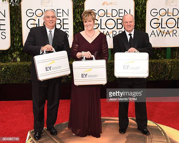Ernst Young representatives attend the 73rd Annual Golden Globe Awards held at the Beverly Hilton Hotel on January 10 2016 in Beverly Hills California