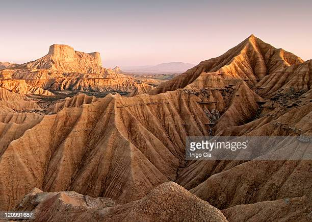 eroded desert - pamplona stock pictures, royalty-free photos & images