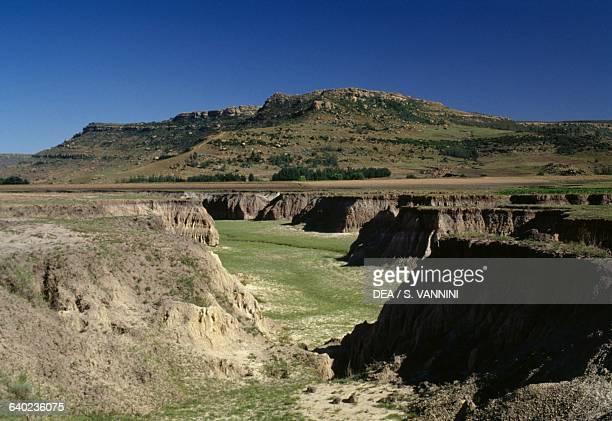 Eroded formations Maseru District Lesotho