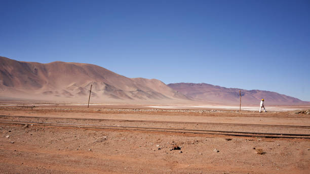 Eroded landscape in the Desierto del Diablo in the Los Colorados area, of Tolar Grande in the province of Salta in La Puna Argentina
