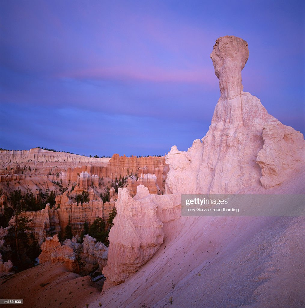 Eroded rock formations, Bryce Canyon, Utah, United States of America (USA), North America : Foto de stock