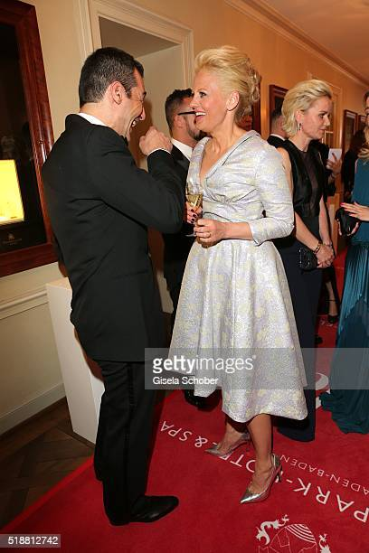 Erol Sander and Barbara Schoeneberger during the Gala Spa Awards on April 2 2016 in BadenBaden Germany