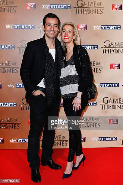 Erol Sander and Caroline Goddet arrive at the Tower of London for the world premiere of Game of Thrones S5 which starts on April 12 on Sky in Germany...