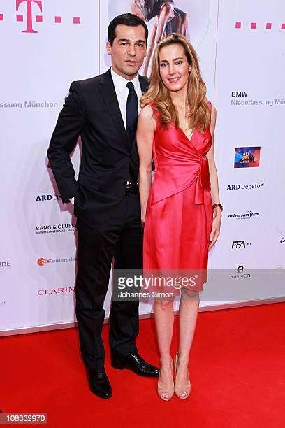 Erol Sander and Caroline Goddet attend the Diva Award 2011 at Hotel Bayerischer Hof on January 25 2011 in Munich Germany