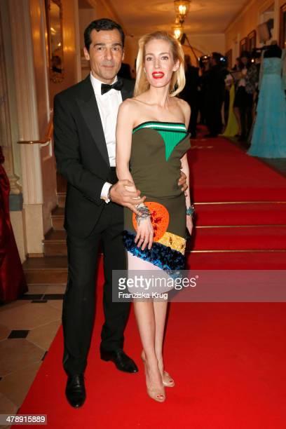 Erol Sander and Caroline Goddet attend the Gala Spa Awards 2014 at Brenners Parkhotel BadenBaden on March 15 2014 in BadenBaden Germany