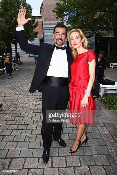 Erol Sander and Caroline Sander attend the Bayreuth Festival opening on July 25 2013 in Bayreuth Germany