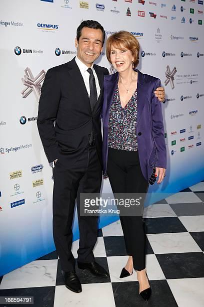 Erol Sander and Christa Maar attend the Felix Burda Award 2013 at Hotel Adlon on April 14 2013 in Berlin Germany