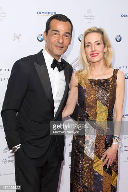 Erol Sander and his wife Caroline Goddet attends the Felix Burda Award 2015 on April 26 2015 in Berlin Germany