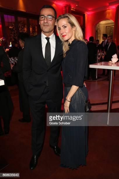 Erol Sander and his wife Caroline Goddet during the 10th Audi Generation Award 2016 at Hotel Bayerischer Hof on December 7 2016 in Munich Germany