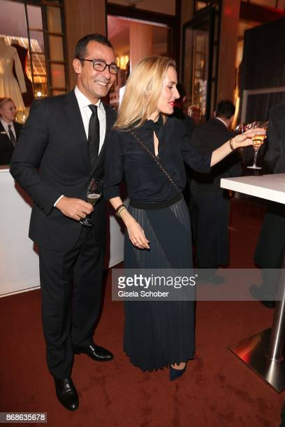 Erol Sander and his wife Caroline Goddet during the 10th Audi Generation Award 2016 at Hotel Bayerischer Hof on December 7 2016 in Munich Germany