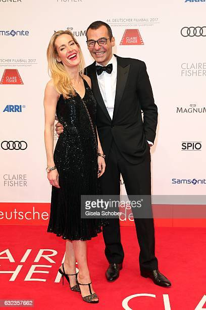 Erol Sander and his wife Caroline Goddet during the 44th German Film Ball 2017 arrival at Hotel Bayerischer Hof on January 21 2017 in Munich Germany