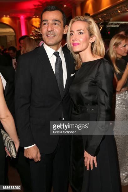 Erol Sander and his wife Caroline Goddet during the Audi Generation Award 2015 at Hotel Bayerischer Hof on December 2 2015 in Munich Germany