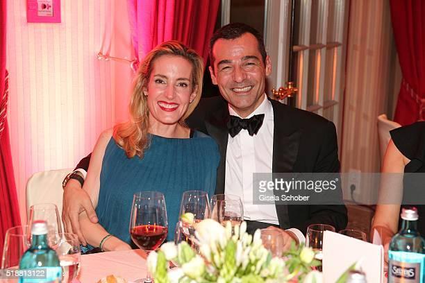 Erol Sander and his wife Caroline Goddet during the Gala Spa Awards on April 2 2016 in BadenBaden Germany