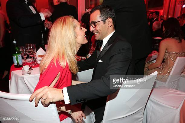 Erol Sander and his wife Caroline Goddet during the German Film Ball 2016 party at Hotel Bayerischer Hof on January 16 2016 in Munich Germany