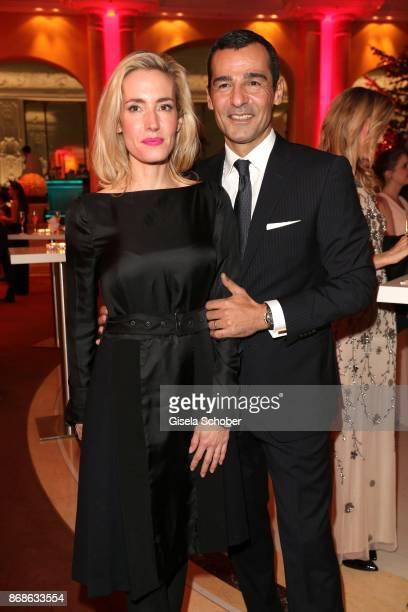 Erol Sander and his wife Caroline Goddet the Audi Generation Award 2015 at Hotel Bayerischer Hof on December 2 2015 in Munich Germany