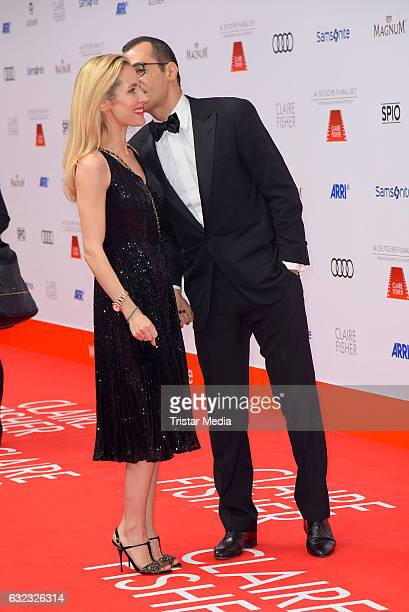 Erol Sander and his wife Caroline Godet attend the German Film Ball 2017 at Hotel Bayerischer Hof on January 21 2017 in Munich Germany