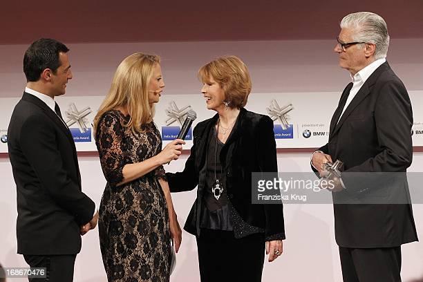Erol Sander Barbara Schöneberger Sky Du Mont and Dr Christa Maar at the 10th Anniversary Of The Felix Burda Award at Hotel Adlon in Berlin