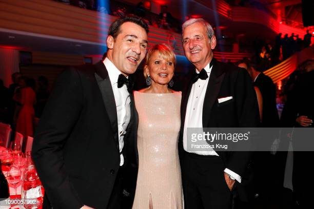 Erol Sander Uschi Glas and Dieter Hermann during the 46th German Film Ball at Hotel Bayerischer Hof on January 26 2019 in Munich Germany