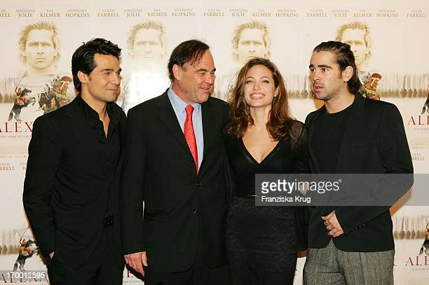 Erol Sander With Oliver Stone and Angelina Jolie and Colin Farrell At Film Premiere 'Alexander' In Cinedom In Koeln Am 171204
