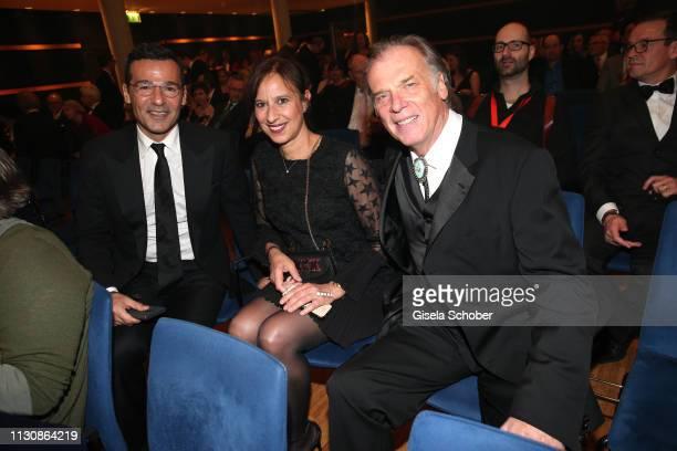 Erol Sander Wolfgang Fierek and his wife Djamila Mendil during the 3rd Carl Laemmle Producer Award at Kulturhaus Laupheim on March 15 2019 in...