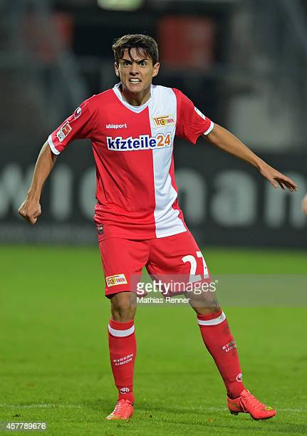 Eroll Zejnullahu of 1 FC Union Berlin during the game between 1 FC Union Berlin against VfR Aalen on october 24 2014 in Berlin Germany