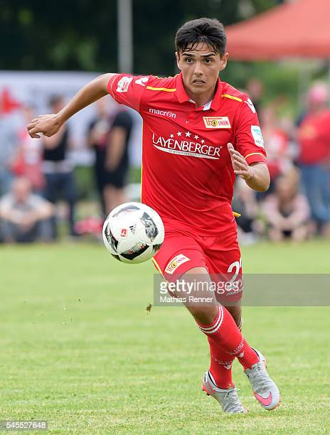 Eroll Zejnullahu of 1 FC Union Berlin during the test match between dem SV Zehdenick and Union Berlin on July 8 2016 in Zehdenick Germany