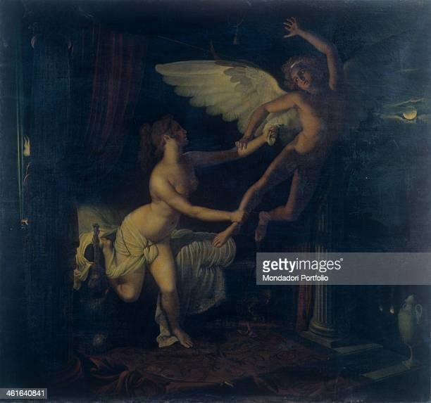 Eros and Psyche by Pietro Benatelli 19th century oil on canvas Italy Veneto Rovigo Accademia dei Concordi Collection Whole artwork view Psyche...