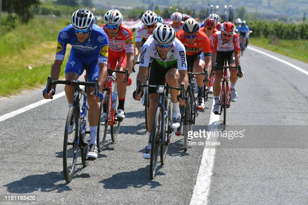 Eros Capecchi of Italy and Team Deceuninck - Quick-Step / Danilo Wyss of Switzerland and Team Dimension Data / during the 102nd Giro d'Italia 2019,...