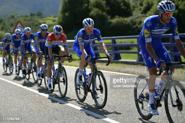 Eros Capecchi of Italy and Team DeceuninckQuickStep / Remi Cavagna of France and Team DeceuninckQuickStep / Fabio Jakobsen of The Netherlands and...