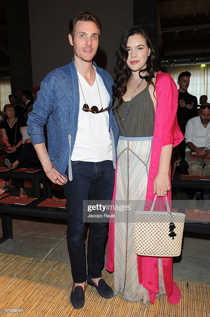 Eros Galbiati and Teresa Missoni attend the Missoni Collection show during Milan Menswear Fashion Week Spring Summer 2014 on June 23, 2013 in Milan, Italy.