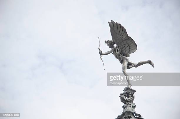 eros, god of love, london - cupid stock pictures, royalty-free photos & images