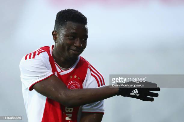 Eros Maddy of Ajax in action during the YOUTH CUP U19 between Ajax U19 and Excelsior U19 at Sportpark De Toekomst Johan Cruyff Arena on April 02 2019...