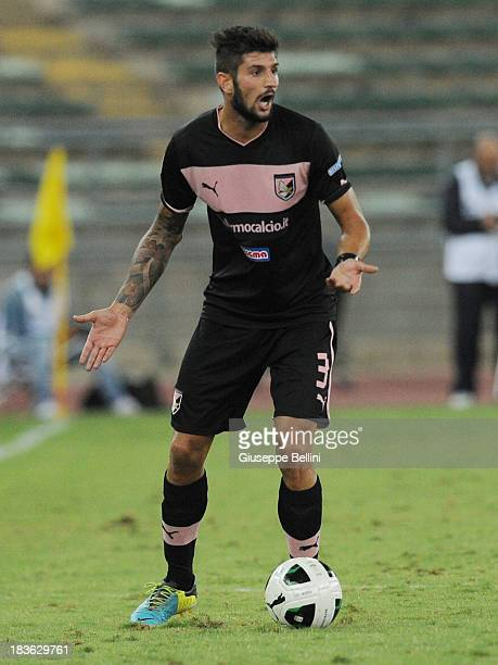 Eros Pisano of Palermo in action during the Serie B match between AS Bari and US Citta di Palermo at Stadio San Nicola on September 24 2013 in Bari...