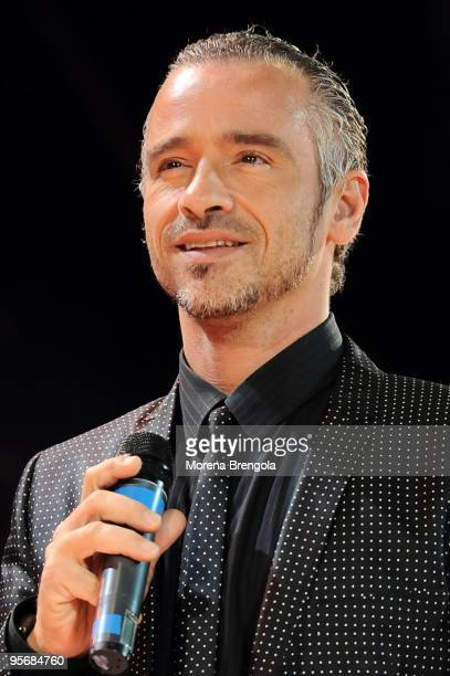 Eros Ramazzotti performs at the Arena of Verona during the Wind Music Awards on June 6 2009 in Verona Italy