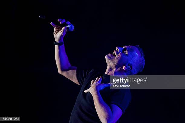 Eros Ramazzotti performs in concert at Palau Sant Jordi on February 14 2016 in Barcelona Spain