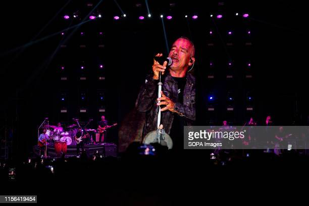 Eros Ramazzotti performs live on stage during the music tour 2019 at the Stupinigi Sonic Park festival in Stupinigi