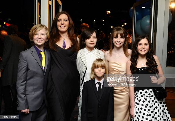Eros Valhos director Susanna White Asa Butterfield Oscar Steer Rosie Taylor Ritson and Lil Woods arriving for the world premiere of Nanny McPhee and...