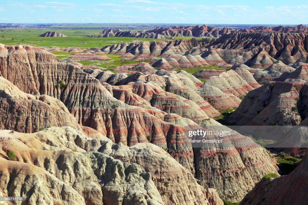 Erosive landscape in Badlands National Park : Stock-Foto