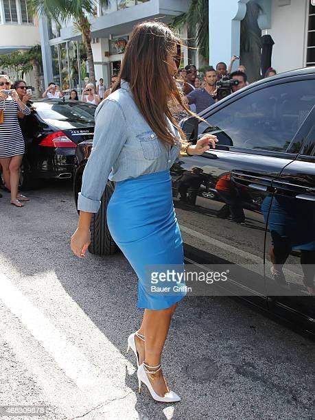 UKKim Kardashian is seen on October 02 2012 in Miami Florida