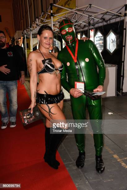 Erotic and fetisch models during the Venus Erotic Fair Opening 2017 on October 12 2017 in Berlin Germany