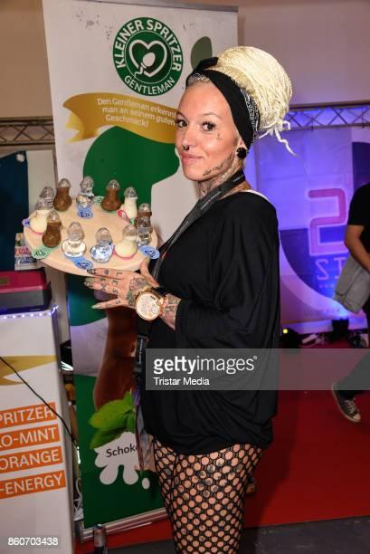 Erotic model during the Venus Erotic Fair Opening 2017 on October 12 2017 in Berlin Germany