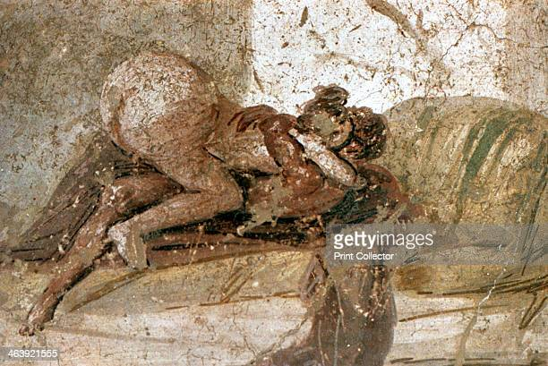 Erotic mural Pompeii Italy A couple performing sex