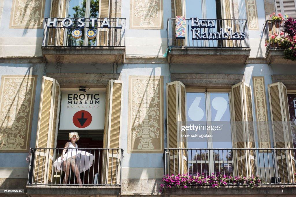 Erotic Shop in Barcelona : Stock Photo