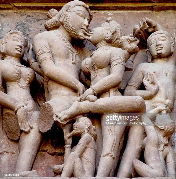 Erotic stone carvings at Lakshmana Temple, Khajuraho