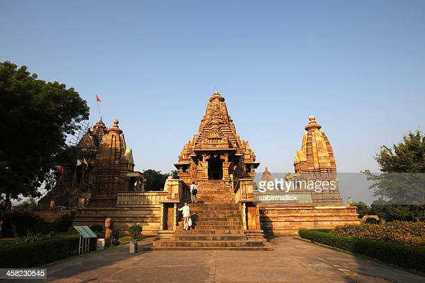 erotic temple of khajuraho - nude hindu women stock photos and pictures