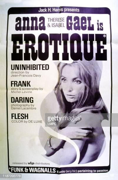Erotique poster Anna Gael on French poster art 1969