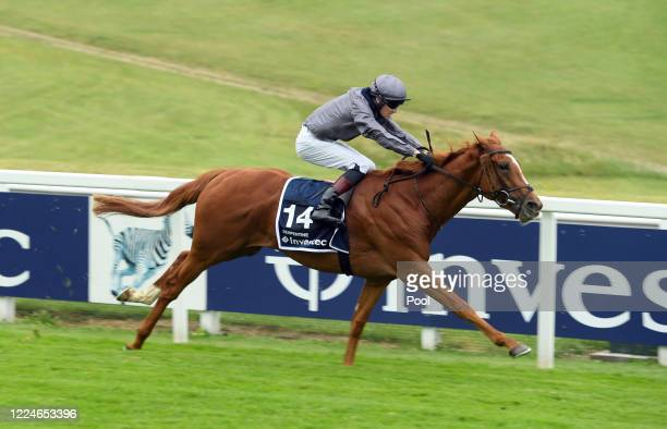 erpentine and Emmet McNamara win the Derby at Epsom Racecourse on July 04 2020 in Epsom England The famous race meeting will be held behind closed...