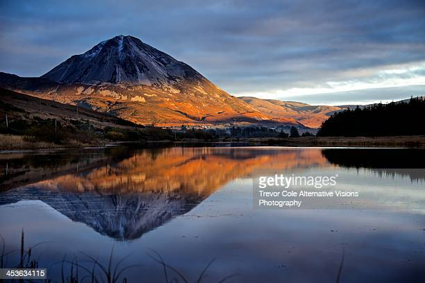 errigal - county donegal stock photos and pictures