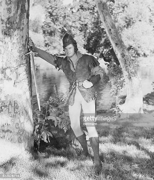 Errol Flynn in the 1938 film The Adventures of Robin Hood directed by Michael Curtiz and William Keighley