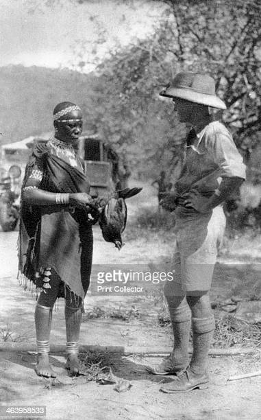 Errol Hinds making a deal in chickens Wankie to Victoria Falls Southern Rhodesia 1925 Errol Hinds was Stella's younger brother A print from Cape to...